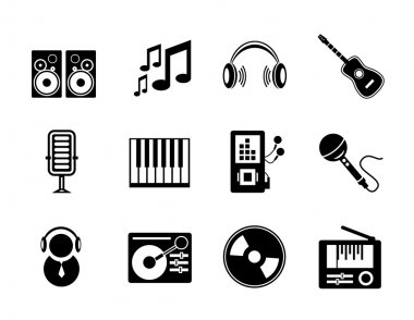 Vector music icons