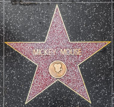 Mickey Mouse's star on Hollywood Walk of Fame