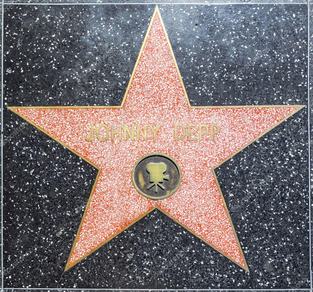 estrella en hollywood paseo de la fama de johnny depp