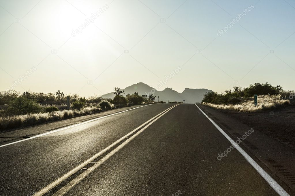Road in sunset