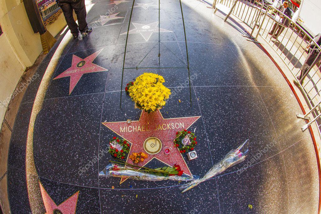 Star at walk of fame of Michael Jackson