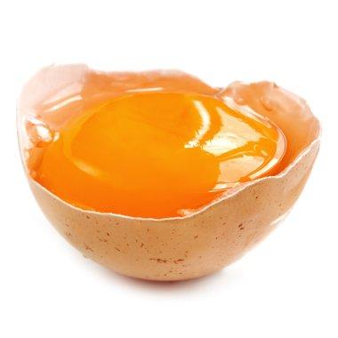 Egg Yolk in Shell over White