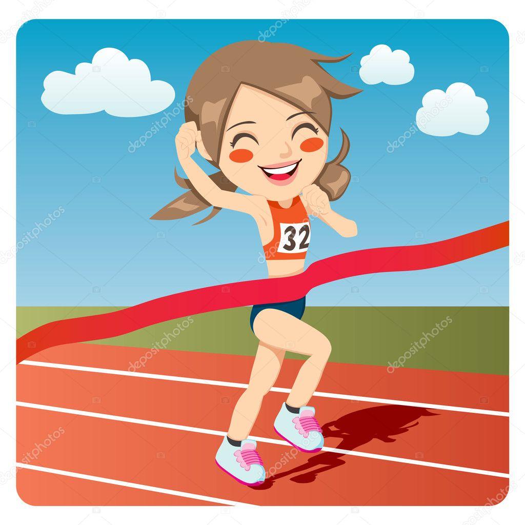 Resultado de imagen de carreras atletismo cartoon girl