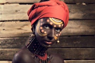 woman in blackface makeup