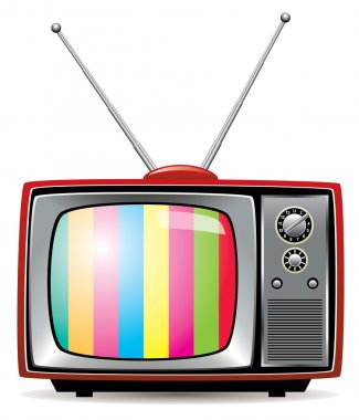 Vector illustration of retro tv set stock vector