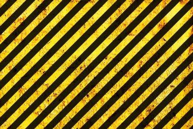 Grunge Warning Black and Orange Pattern