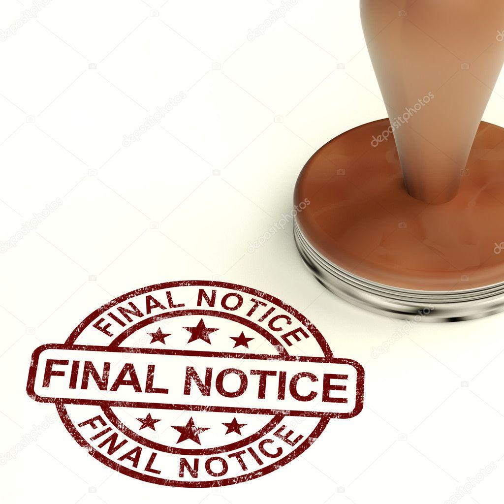 Letzte Mahnung Briefmarke Zeigt Die Ausstehende Zahlung Fällig