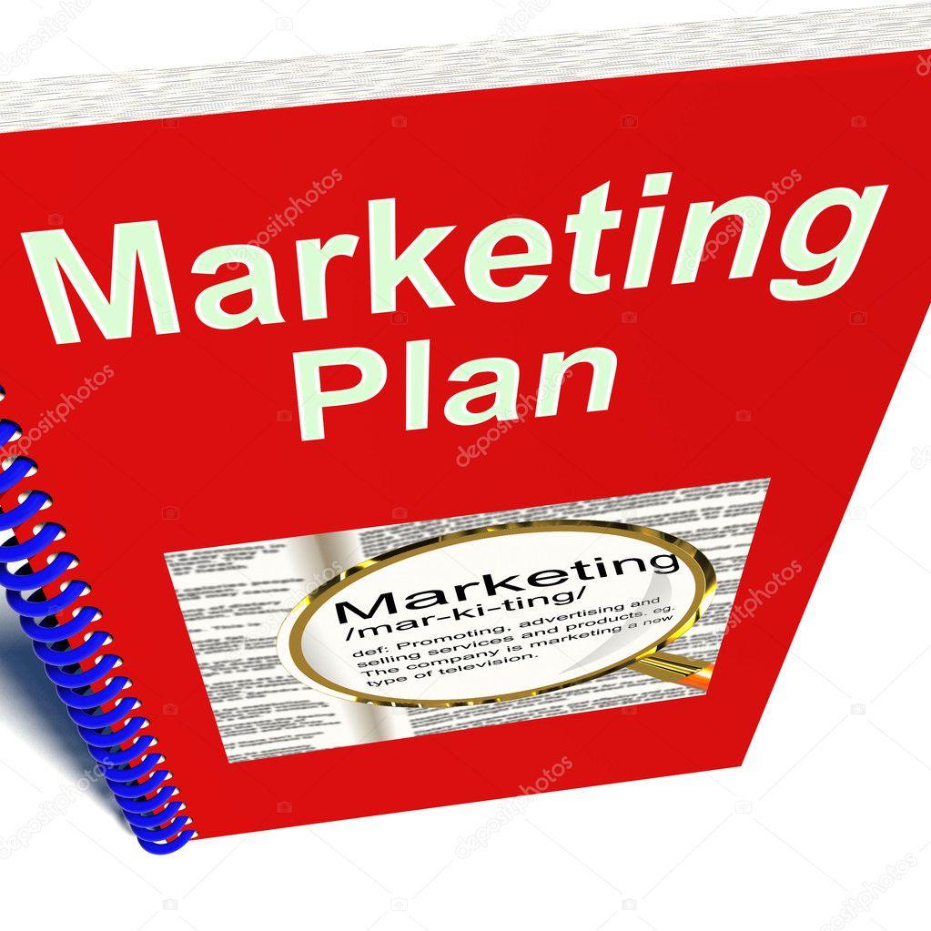 Marketing Plan-Buch für Werbestrategie — Stockfoto © stuartmiles ...