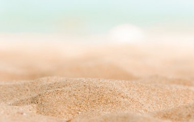 Closeup of some sand on the shore