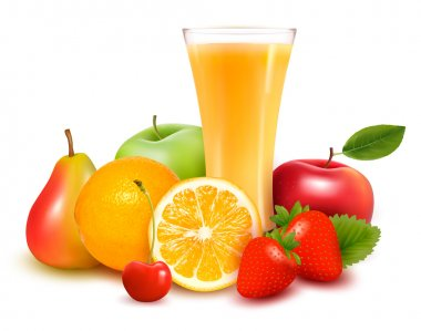 Fresh fruit and juice