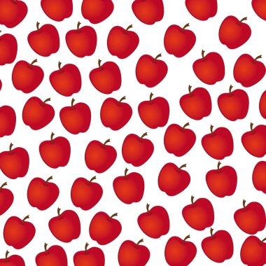 apple pattern on white background