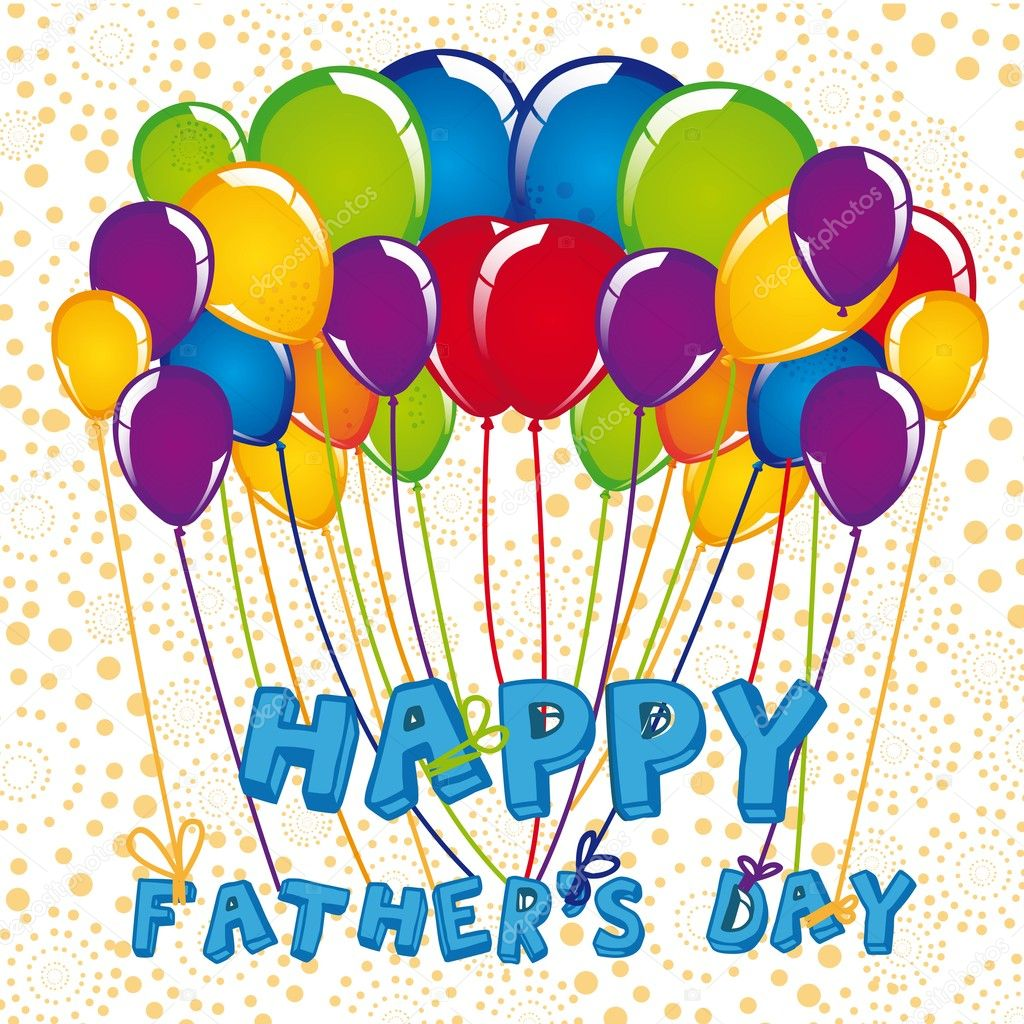 sign of balloons father u0027s day u2014 stock vector grgroupstock 10745025