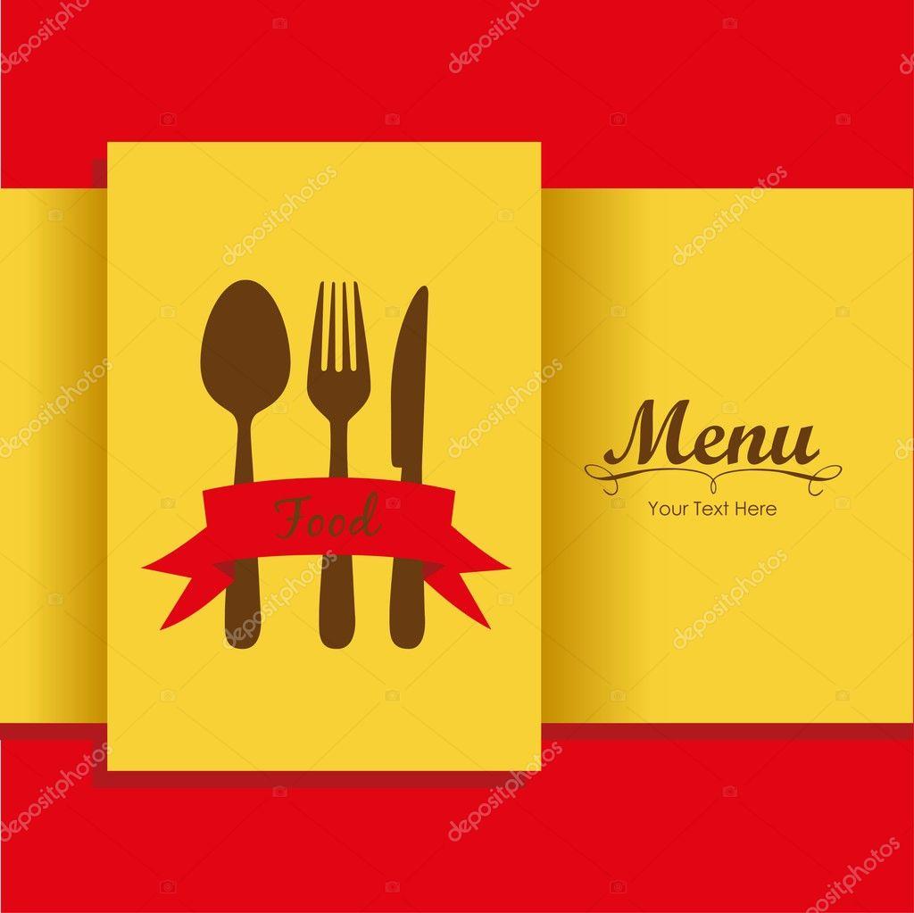 エレガントなレストラン メニュー カード ストックベクター