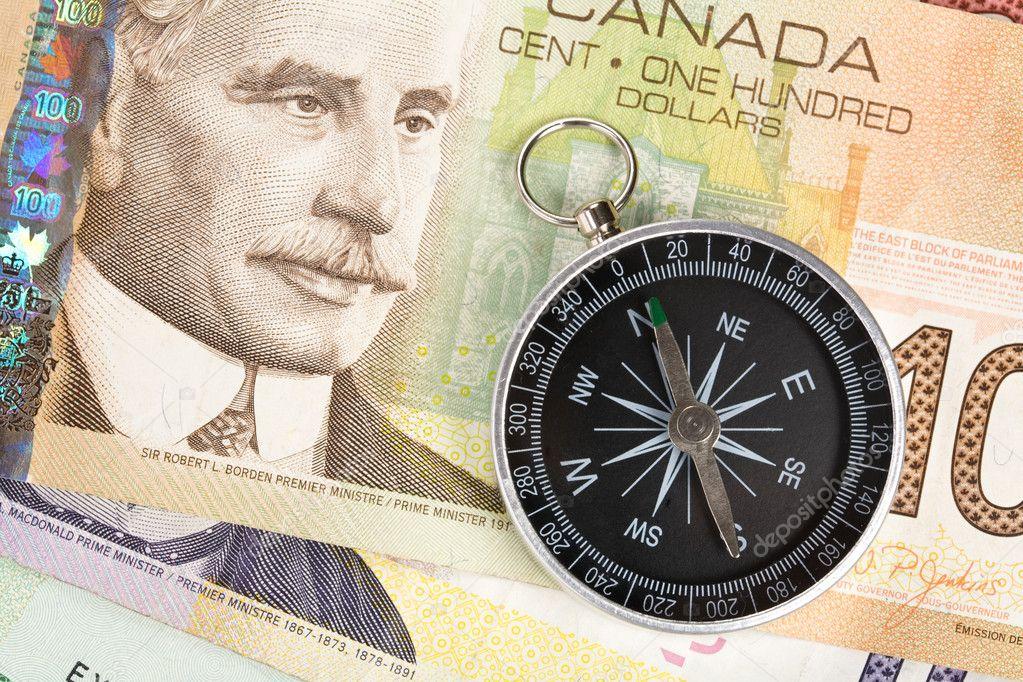 Pusula Ve Kanada Doları Stok Foto Devon 11208227