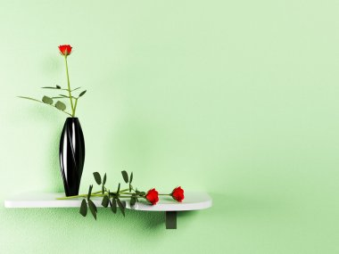 The vase and the flowers