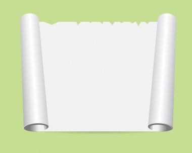 Peace of rolled paper on the floor vector illustration