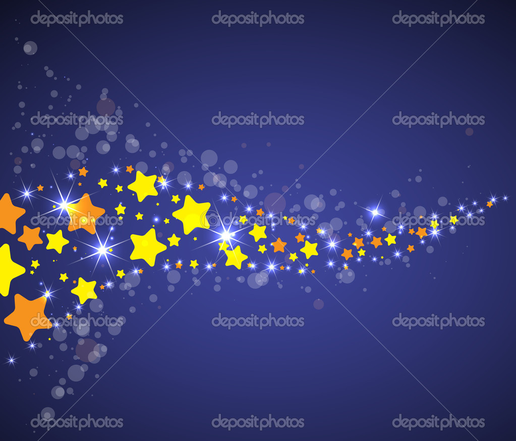 Abstract space vector background with color star way