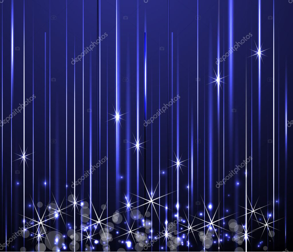 Abstract holiday color stars vector background