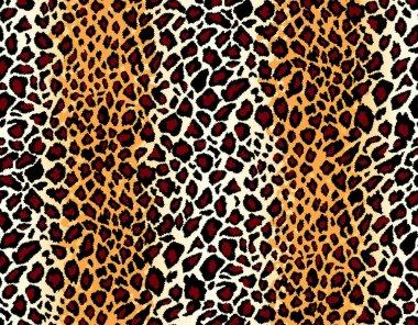 Vector. Seamless jaguar skin pattern
