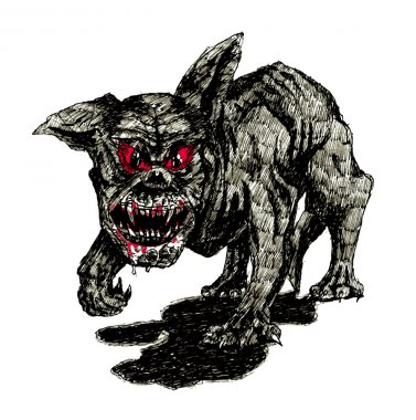 The black hell dog