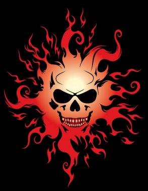 Evil burning Halloween symbol.