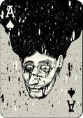 Fotografie Asse und Joker Spielkarte Rücken