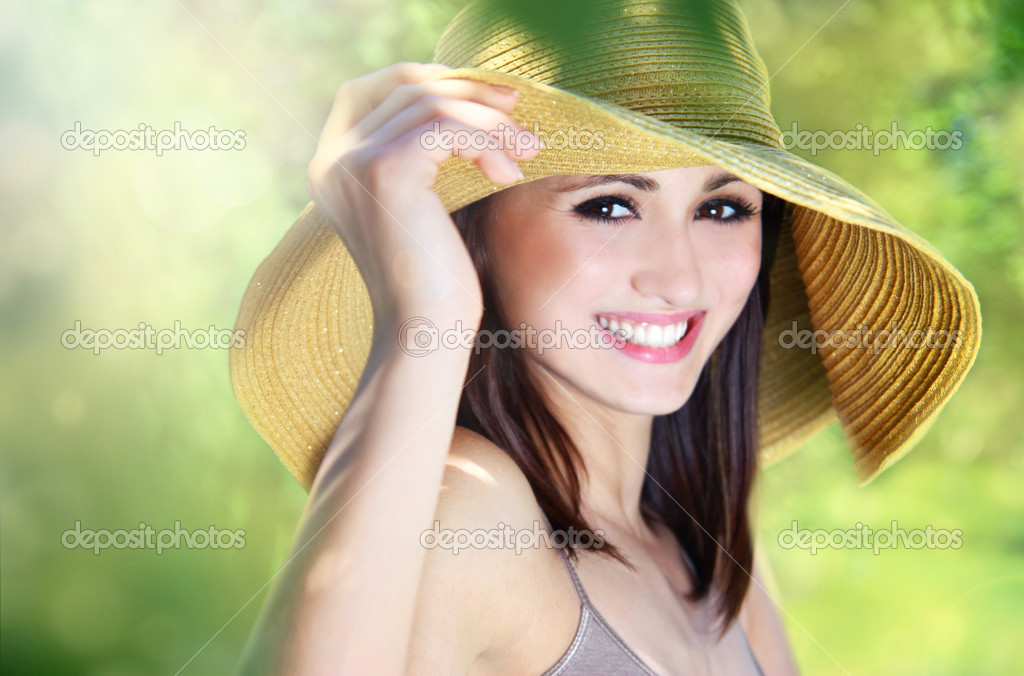 Beautiful smiling girl outdoor