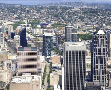 Seattle from above, northwest view.