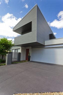 Modern house front
