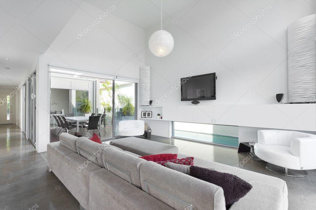 Moderne Wohnzimmer In Australischen Herrenhaus U2014 Foto Von Epstock