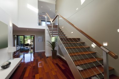 Modern house interior with staircase