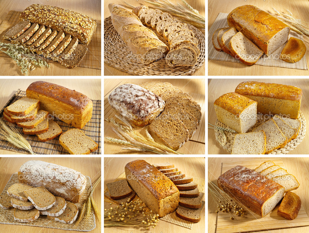 Set of breads