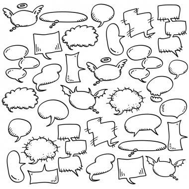 Hand draw speech bubbles stock vector