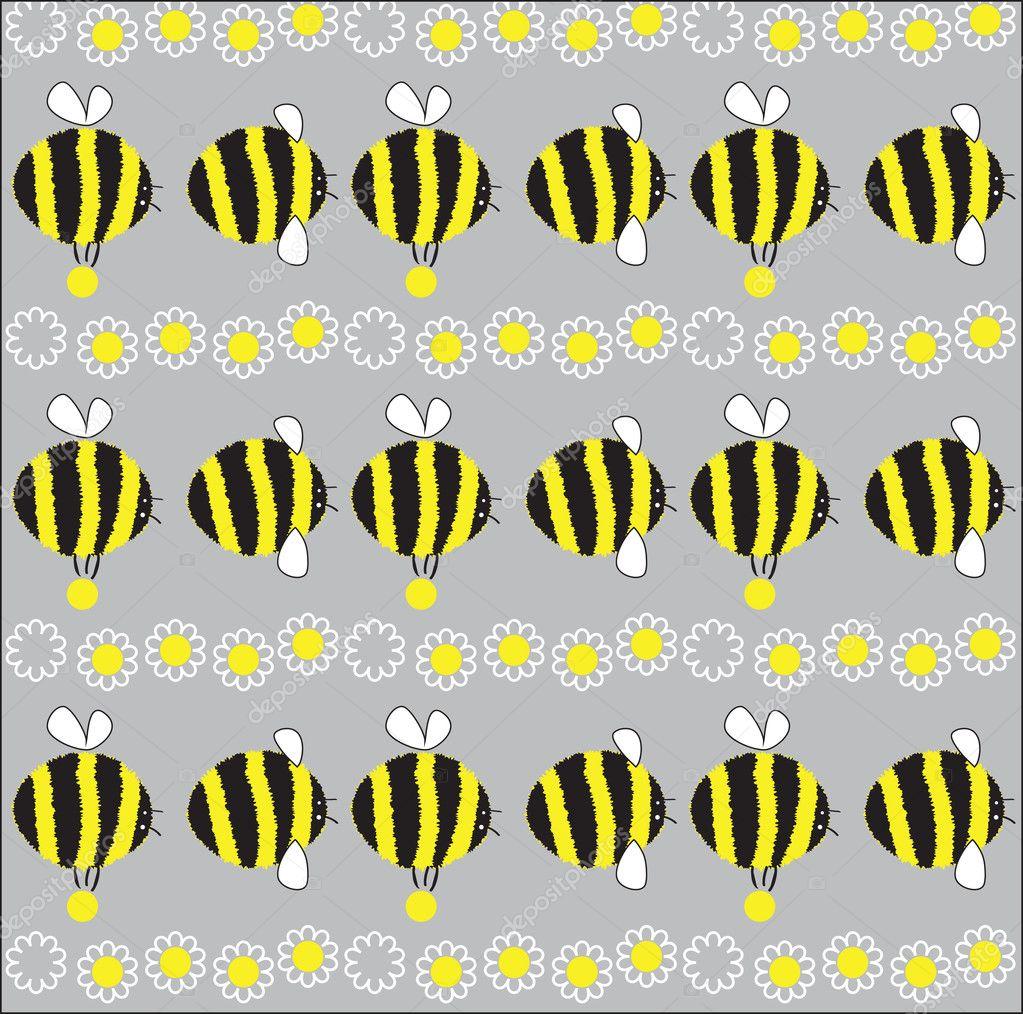 Cheerful bee. vector illustration
