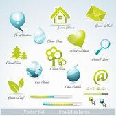 Eco související ikony a symboly
