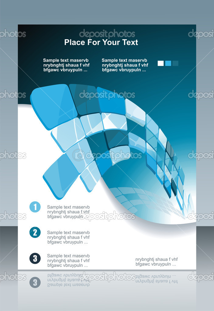 Blue technological banner. Vector illustration
