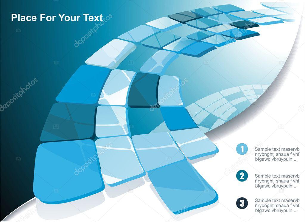 Blue technological banner. Vector illustration