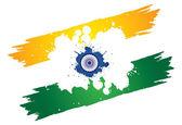 Fotografia Bandiera nazionale indiana tri-color arancio o zafferano, bianco e g