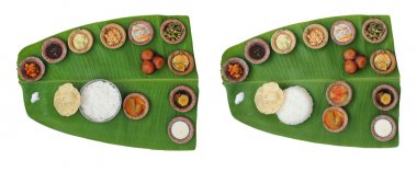 Sumptuous and wholesome onam meals called sadhya in kerala. The