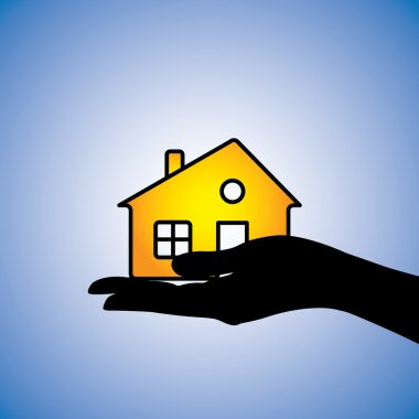 Concept illustration of buying/selling of house/home. This can r