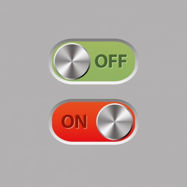 Off and on buttons