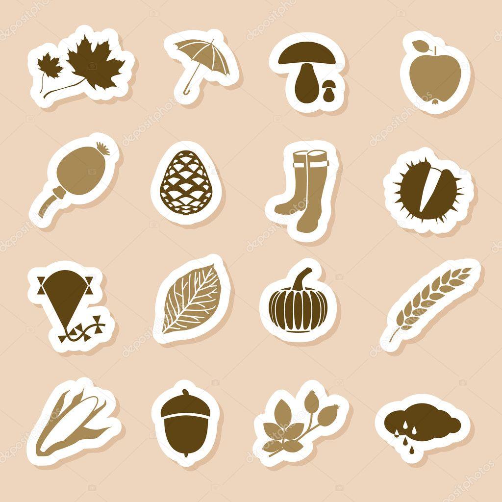 Autumn icon labels