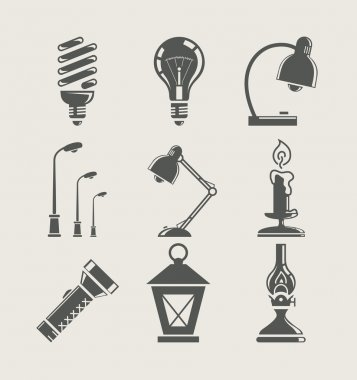 Light bulb and lighting appliance. set icon