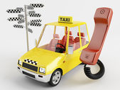 Fotografie vůz taxi