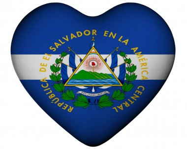 Heart with flag of El Salvador