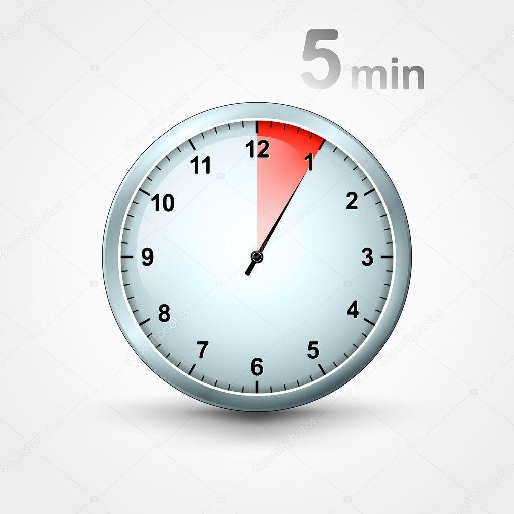 timer 5 min stock vector