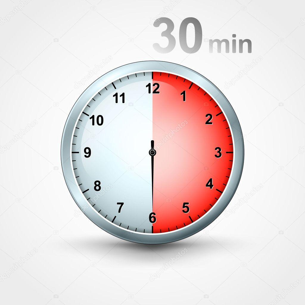 Timer 30 minutes stock vector mikhailmorosin 11748885 - Minuteur 10 minutes ...