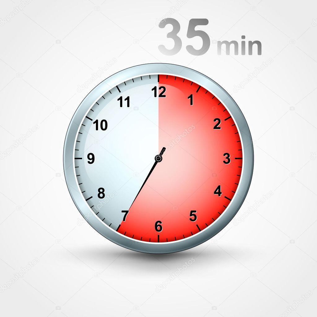 Minuteur 35 minutes image vectorielle mikhailmorosin - Minuteur 7 minutes ...
