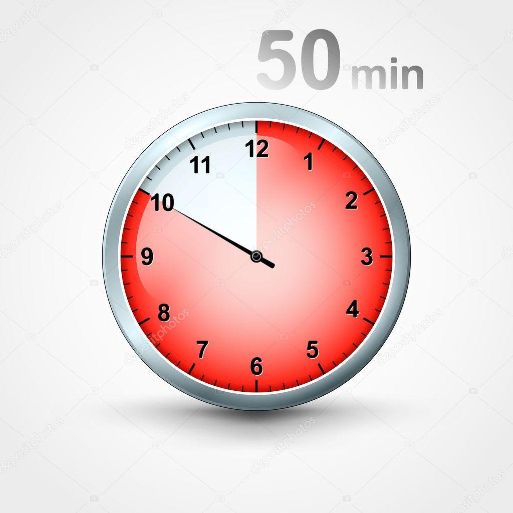 minuteur 50 minutes image vectorielle mikhailmorosin. Black Bedroom Furniture Sets. Home Design Ideas