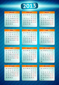 Fotografie Vector calendar 2013